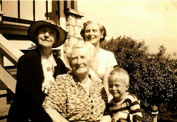 Aunt Lucie, Angel Euphemia, Mother and Peter Circa 1951