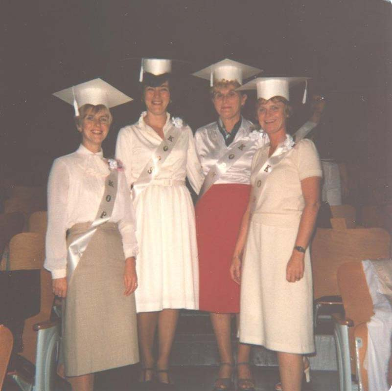 Bettie and Lucie\'s Graduation 1963